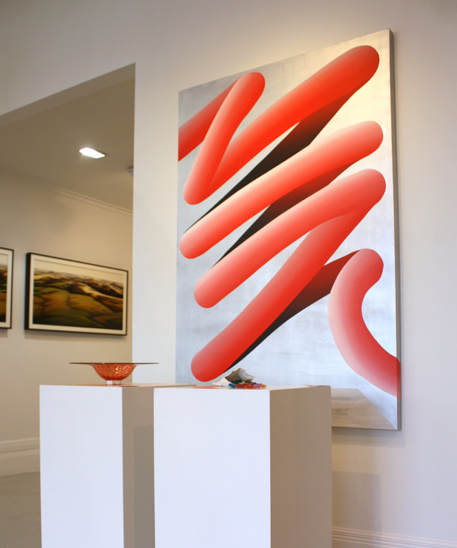 "Cam Edward, ""Big Red"", In Situ at Black Door Gallery"