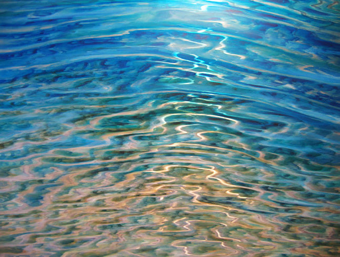 "David Ardley, ""Ripples in the Sand"", Mussini Resin Oil on Aluminium, 1150 x 950mm"