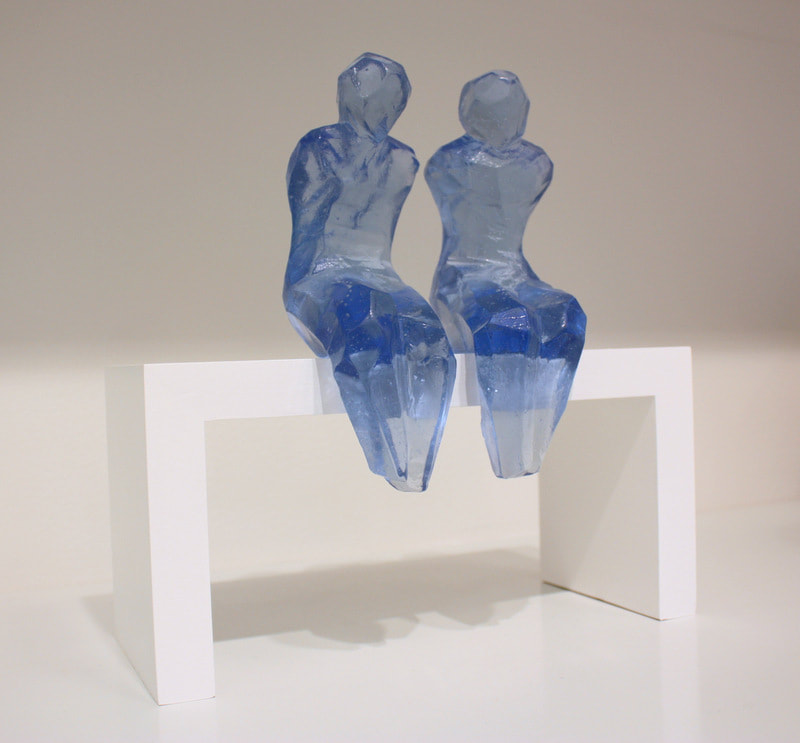 "Di Tocker , ""Shelfies"", Cast Glass on Timber Plinth, 360 x 170 x 170mm, 2020, $800 (Includes Plinth), Available"