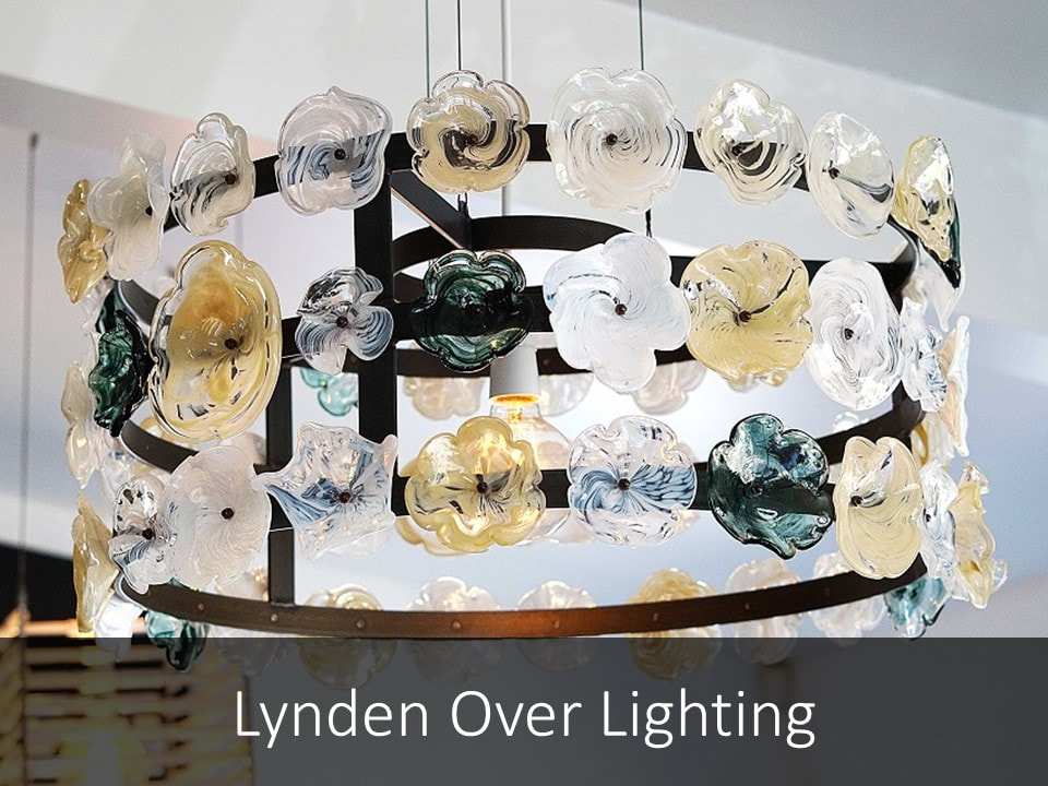 Buy Lynden Over Lights- Handblown glass lights, New Zealand made lights, unique lighting made by artists