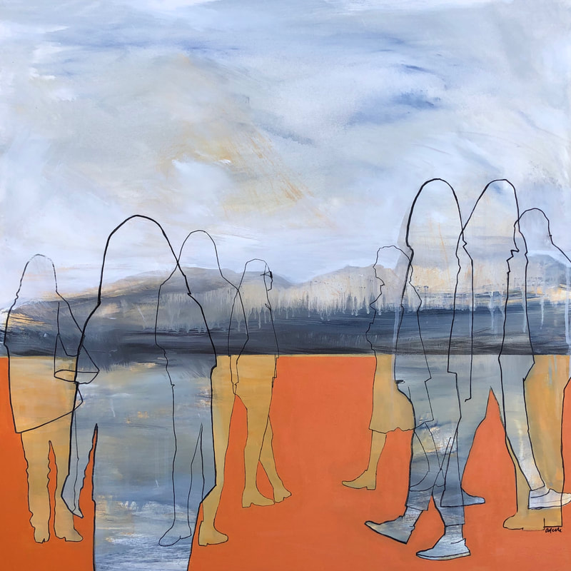 "Odelle Morshuis, ""Inter-relationships"", Acrylic on Canvas, 750 x 750mm, 2020"