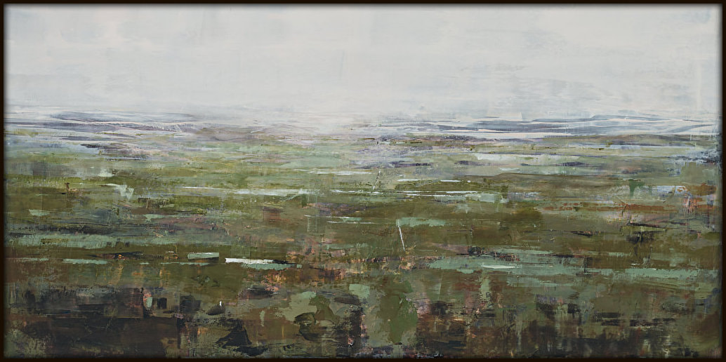 "Jennie De Groot, ""Who do you remember me as?"", Oil on Panel, Black Tray Frame, 630 x 1230mm, 2020, SOLD"
